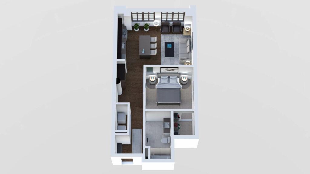 3D Floor Plan No. 03A