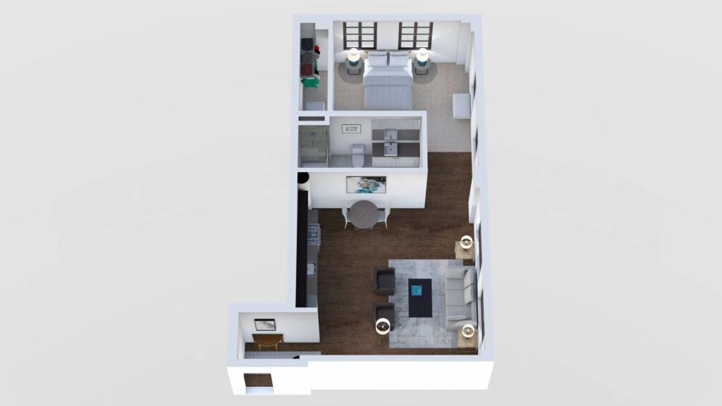 3D Floor Plan No. 04