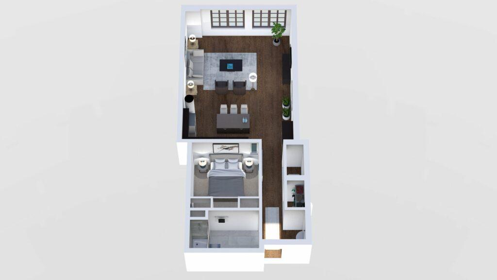 3D Floor Plan No. 10A