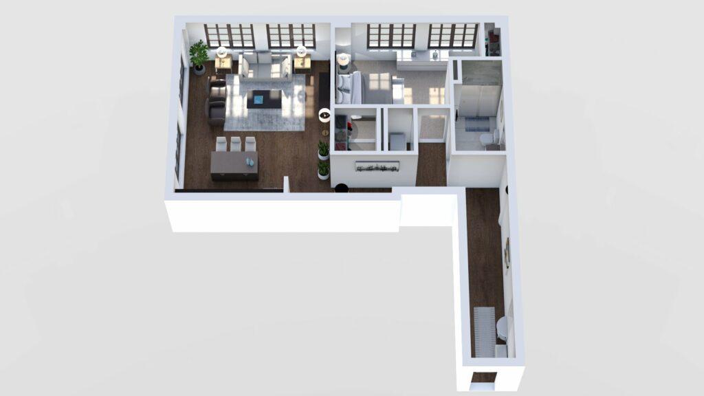 3D Floor Plan No. 12