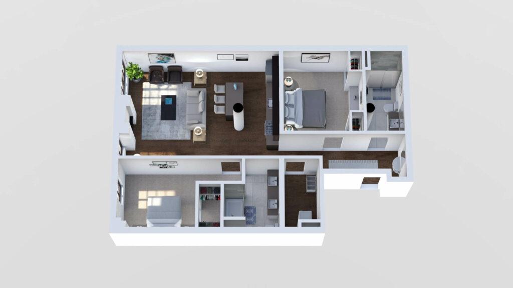 3D Floor Plan No. 14