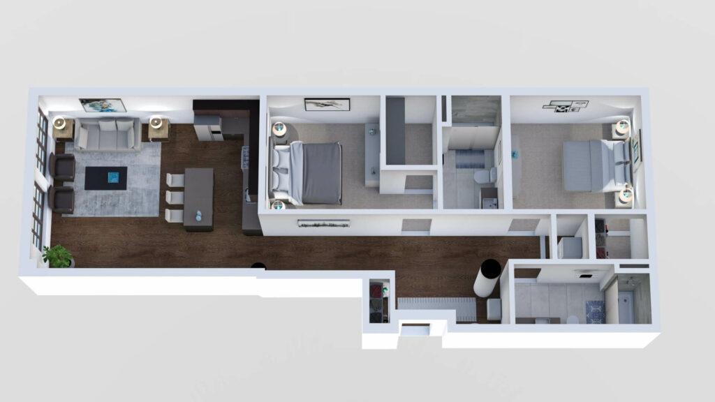 3D Floor Plan No. 15