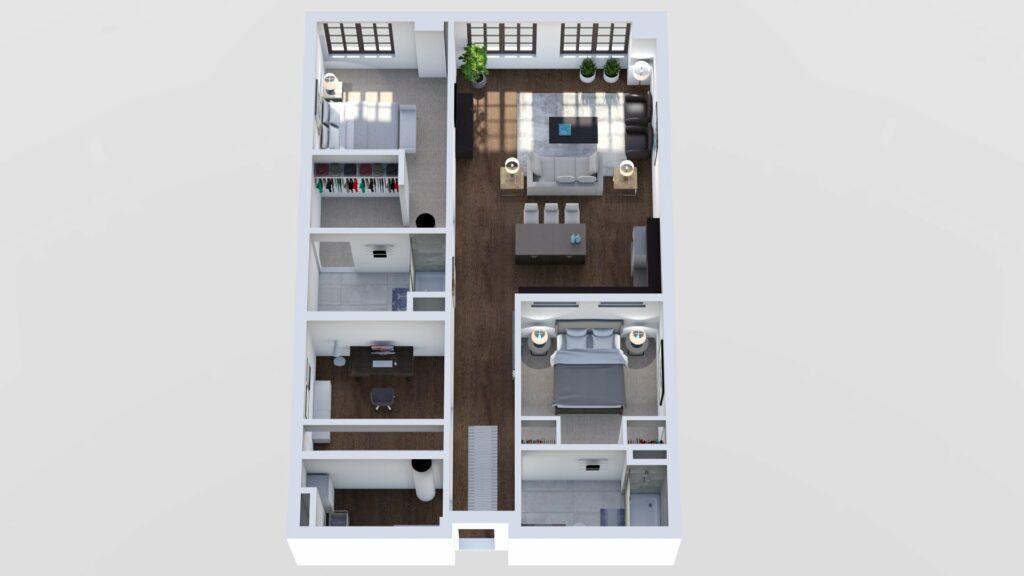 3D Floor Plan No. 16