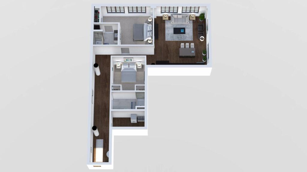 3D Floor Plan No. 17