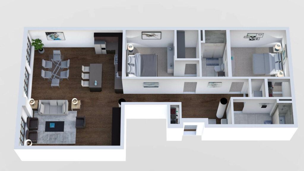 3D Floor Plan No. 18