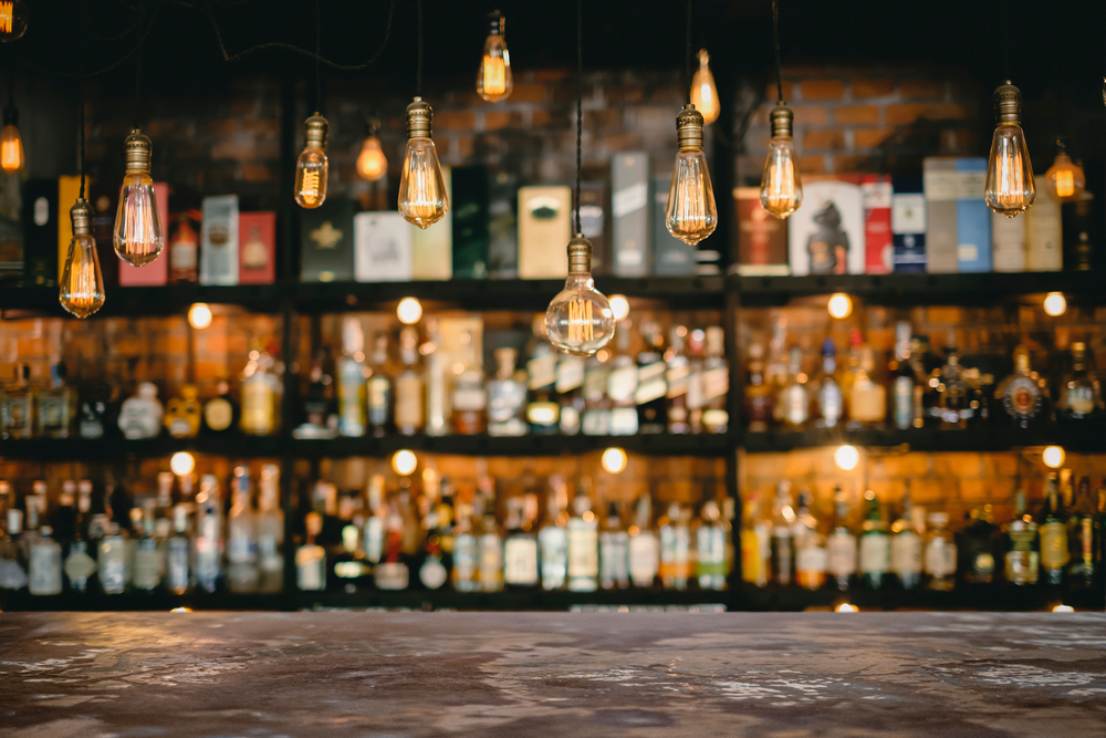 Cool lights at milwaukee bar