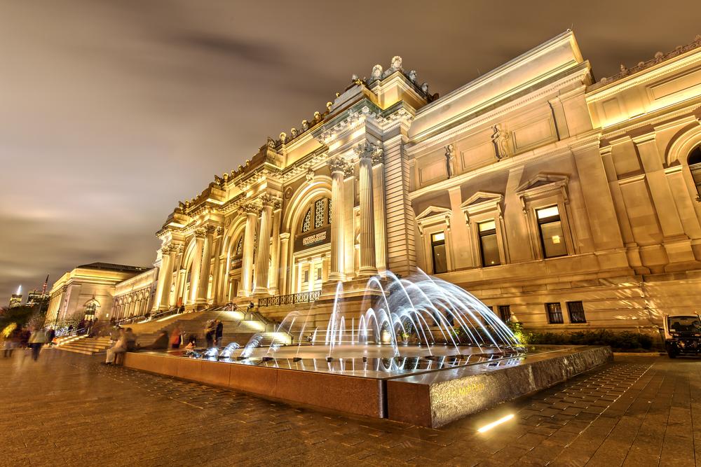 The Metropolitan Museum Of Art at night