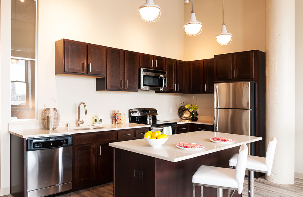 One Bedroom Model - Designer Kitchen With Quartz Countertops And Energy Star Stainless Steel Appliances