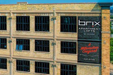Brix apartment lofts by Hovde A Milwaukee Original mural