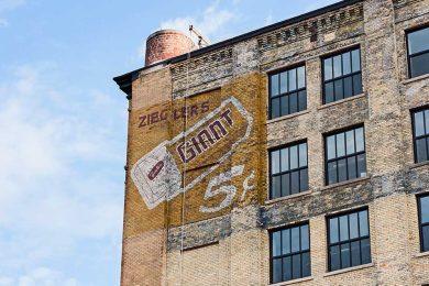Brix exterior mural Zieglers Giant ad