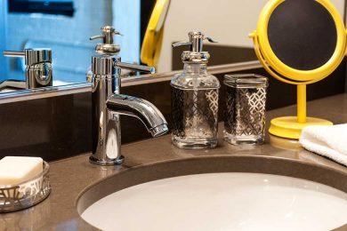 One Bedroom Corner Unit - Designer Bath With High End Fixtures
