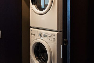 One Bedroom Model - Full Size Energy Star Washer And Dryer Stows Away In Hall Closet
