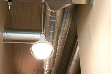 Two Bedroom Model - Exposed Metal Piping Throughout