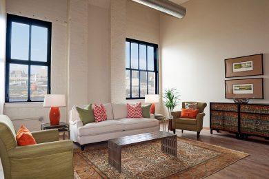 Two Bedroom Model - Generous Open Living Space