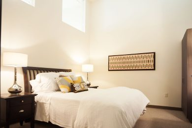 Two Bedroom Model - Large Second Bedroom With Transom Windows And Built In Wardrobes