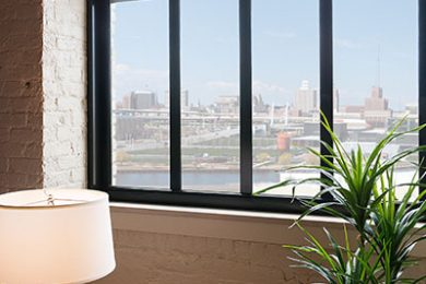Two Bedroom Model - Oversized Windows Frame City And River Views